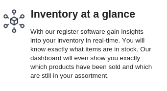 Inventory at a glance